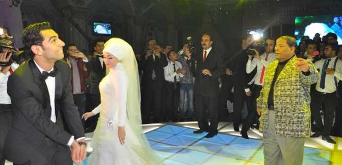 صلاح خلال حفل زفافه