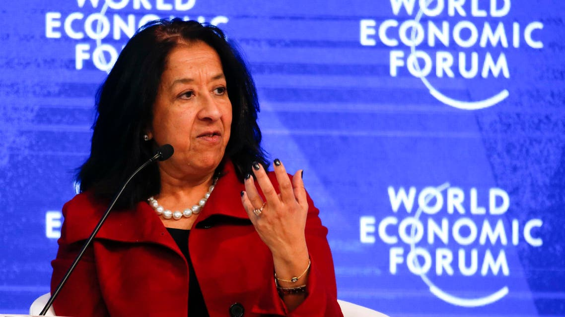 Lubna S. Olayan, Chief Executive Officer and Deputy Chairperson, Olayan Financing Company attends the annual meeting of the World Economic Forum (WEF) in Davos, Switzerland, January 18, 2017. REUTERS/Ruben Sprich
