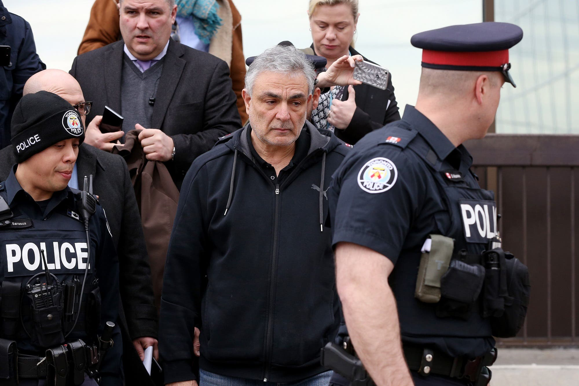 Vic Minassian, the father of suspect Alek Minassian leaves court after his son Alek's court appearance in Toronto, Ontario, on April 24, 2018. (AFP)