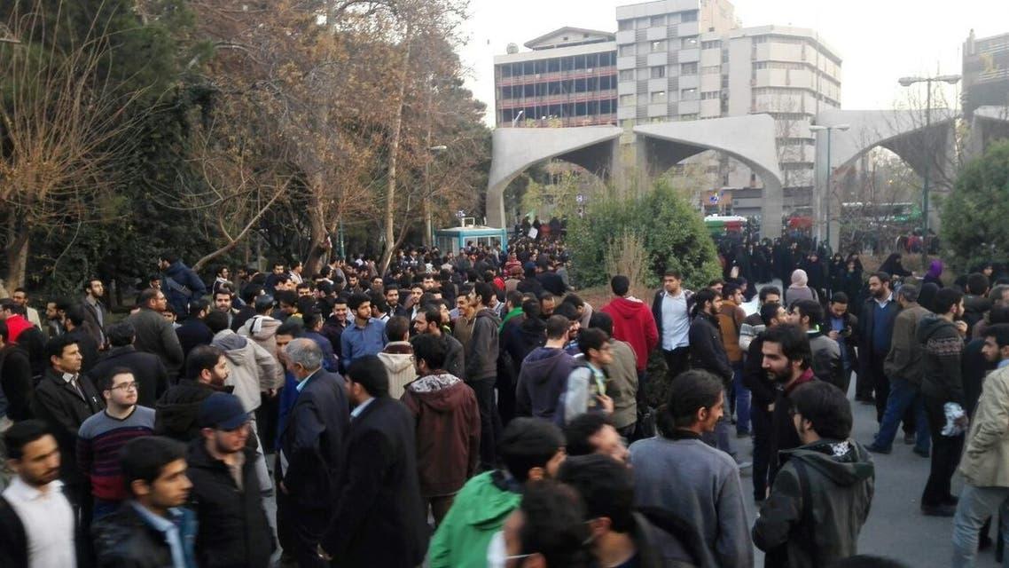 تجمع إحتجاجي أمام جامعة طهران