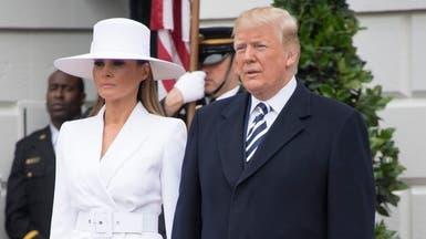 شاهد لقطة محرجة بين ترمب وزوجته... يدها تعانده مجدداً