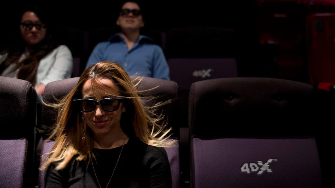 4DX cinema saudi. (AP)