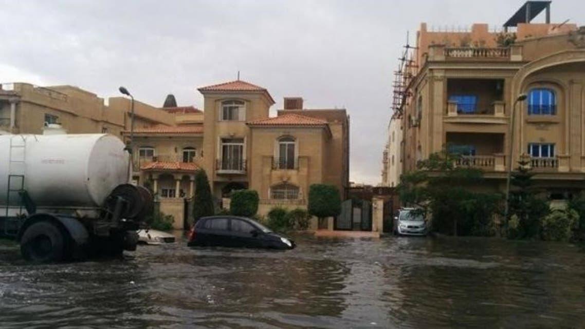 عقارات أمطار القاهرة الجديدة
