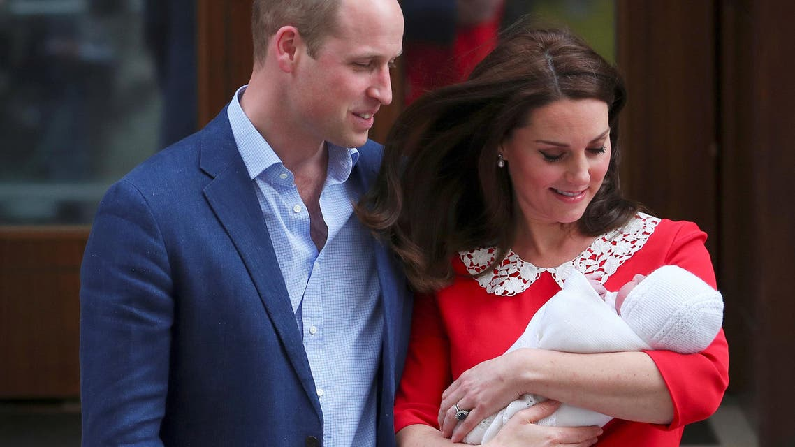 Britain's Catherine, the Duchess of Cambridge and Prince William leave the Lindo Wing of St Mary's Hospital with their new baby boy in London, April 23, 2018. REUTERS/Hannah Mckay TPX IMAGES OF THE DAY