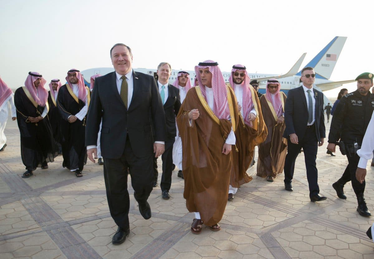 US Secretary of State Mike Pompeo meets with Saudi FM in Riyadh