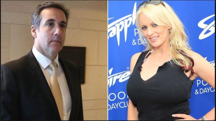 الممثلة الإباحية ستورمي دانيالز ومحامي ترمب مايكل كوهين