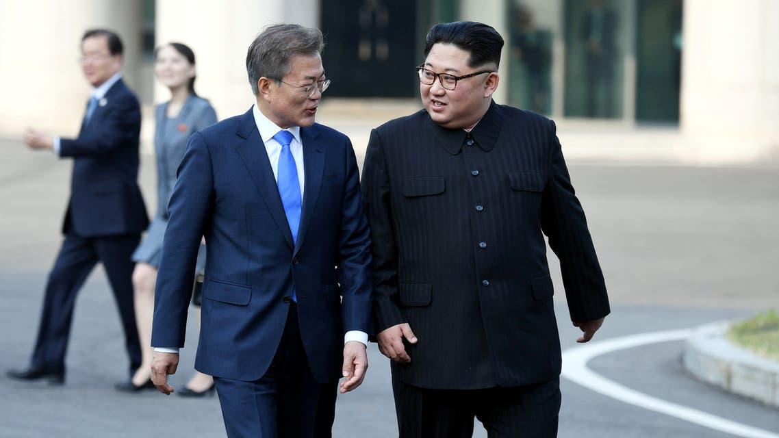 الزعيمان الكوري الشمالي والكوري الجنوبي