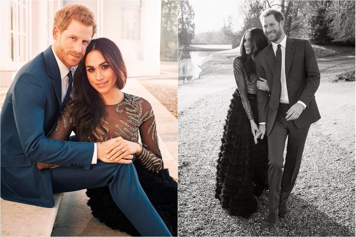 في الصور الرسمية لخطوبتها من الأمير هاري