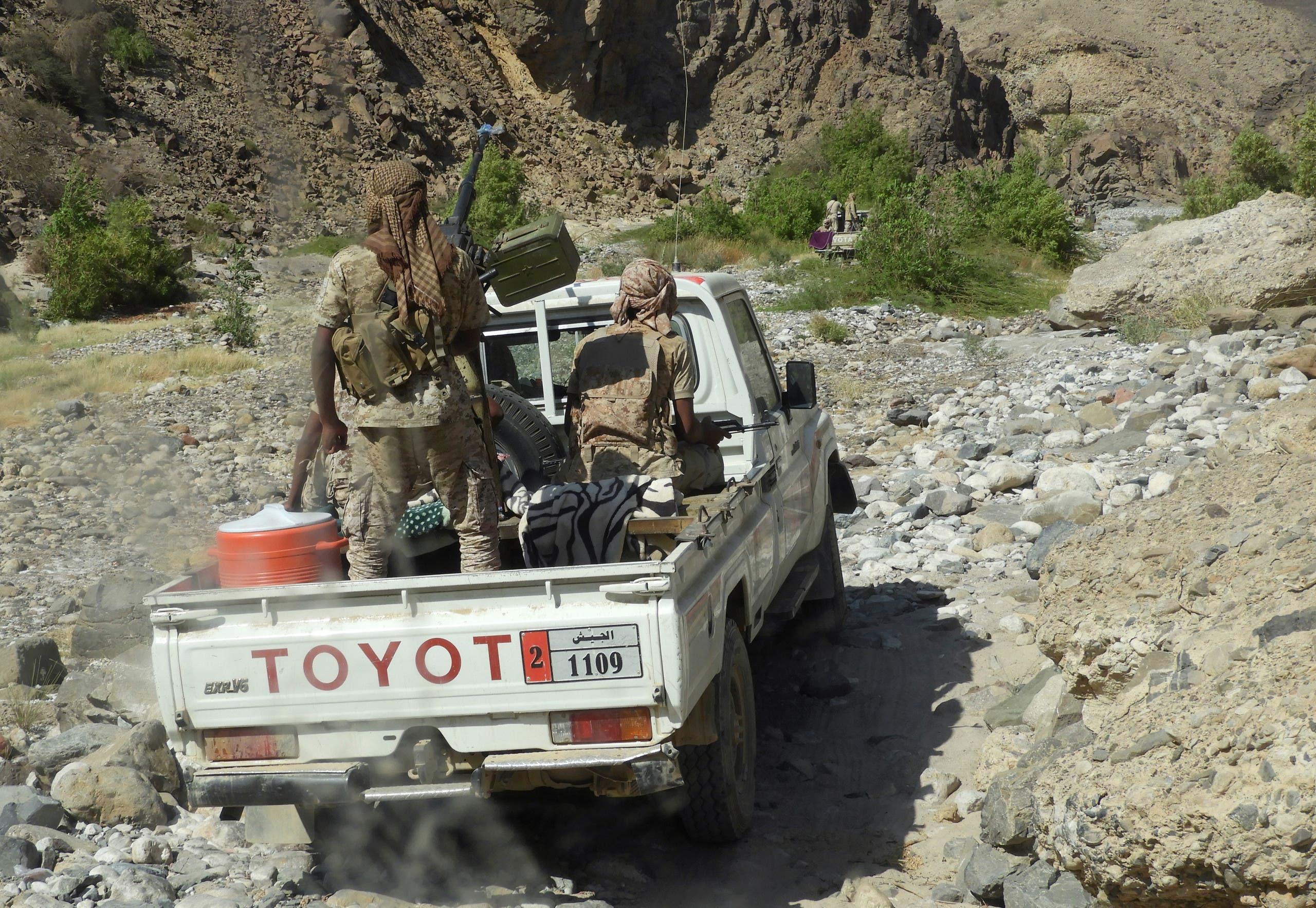 من معارك الجيش اليمني ضد القاعدة في حضرموت (أرشيفية)