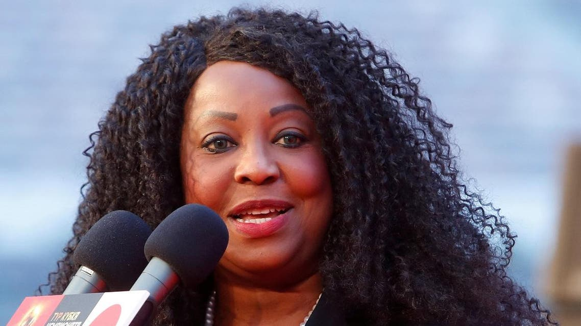 FIFA General Secretary Fatma Samoura speaks during an announcement ceremony of FIFA World Cup trophy tour at the Luzhniki Stadium in Moscow. (Reuters)