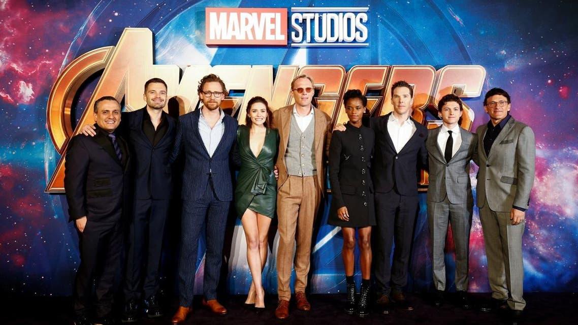 Cast members attend the Avengers: Infinity War fan event in London. (Reuters)