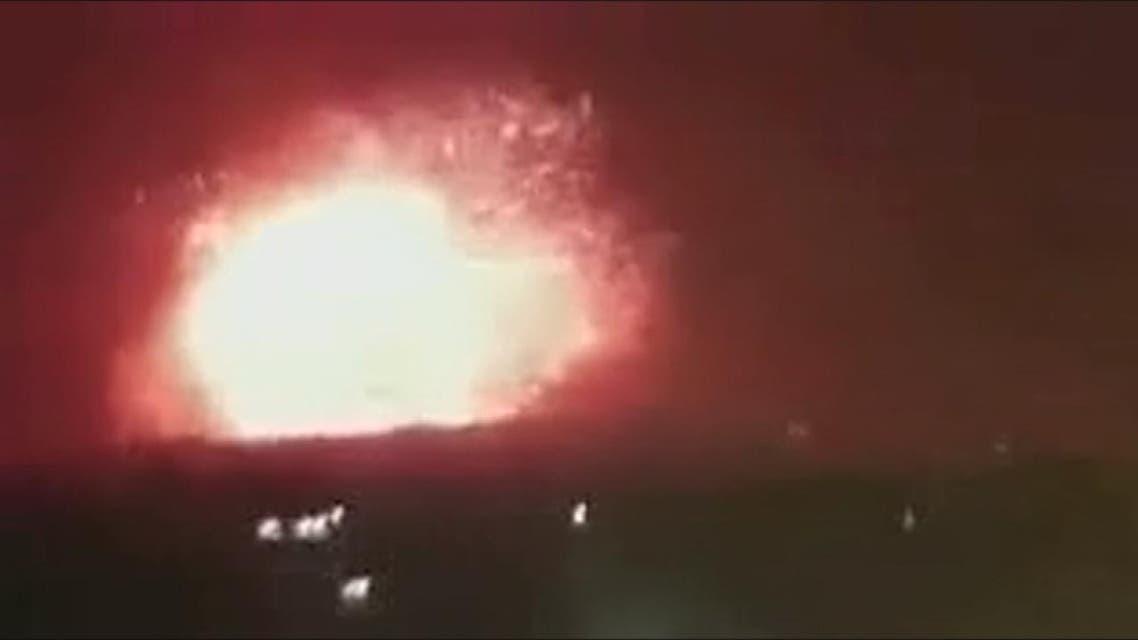 THUMBNAIL_ جحيم الضربة على مواقع إيرانية في سوريا