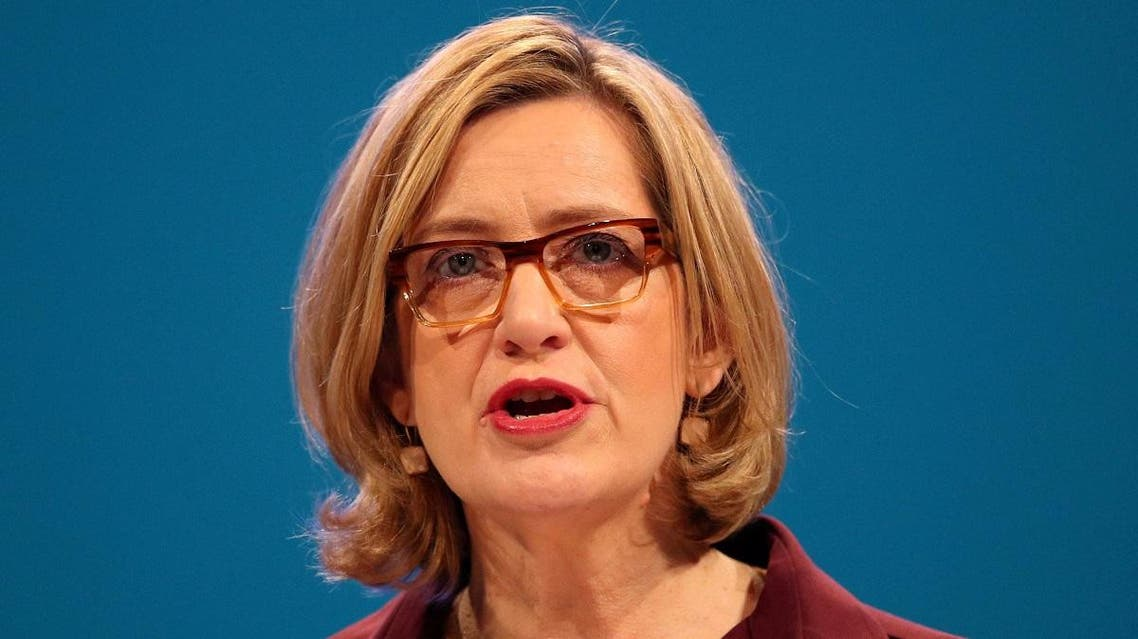 Britain's Home Secretary Amber Rudd speaks at the Conservative Party conference in Manchester. (File photo: Reuters)