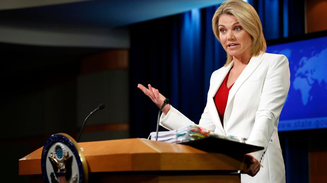 Heather Nauert speaks during a briefing at the State Department in Washington, on Aug. 9, 2017. (AP)