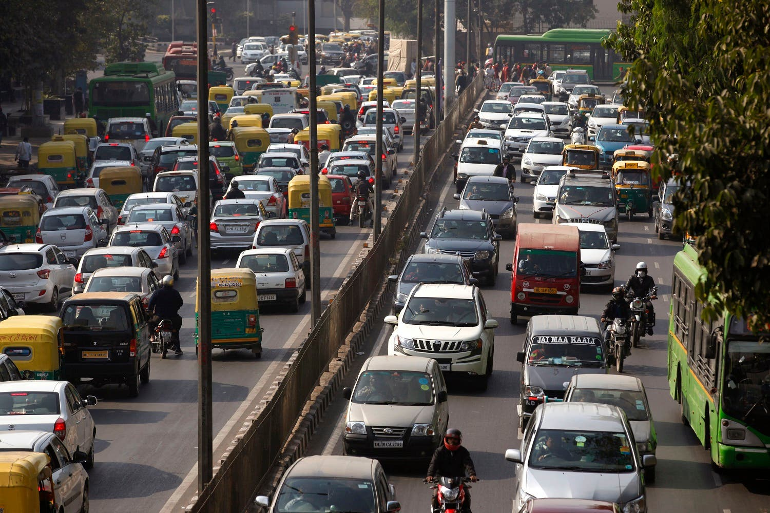 Six Indian cities, including capital New Delhi, are among the 15 most-polluted cities in the world ranked by WHO. (AP)