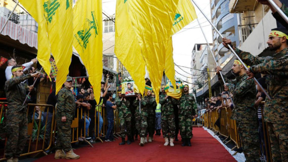 عناصر من ميليشيا حزب الله المدعومة من إيران