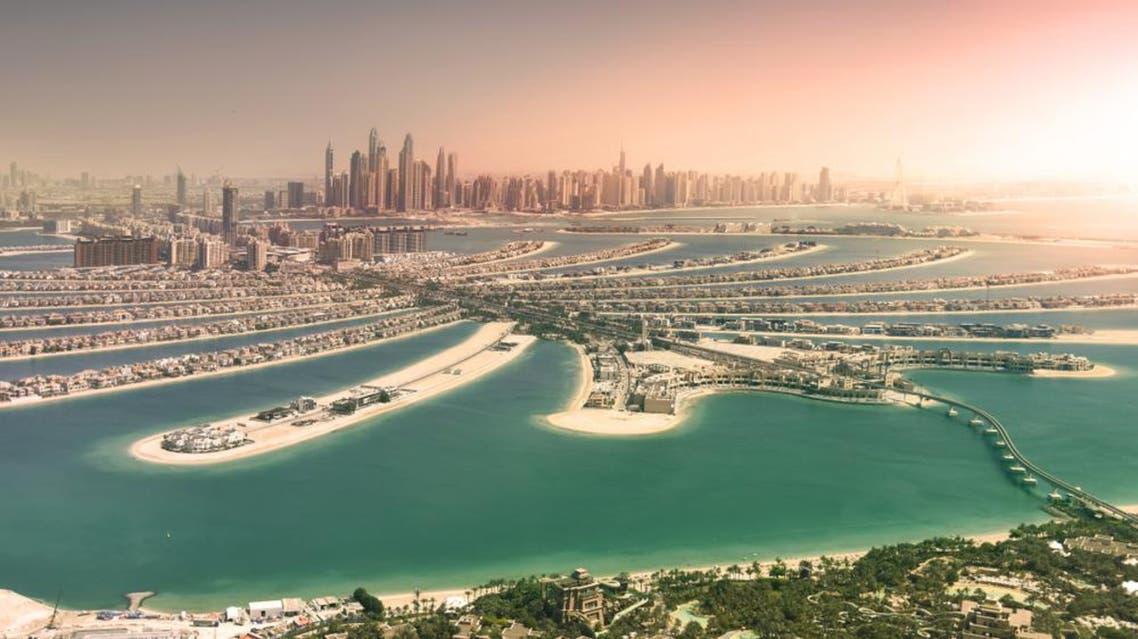 Dubai skyline and palm island (Shutterstock)