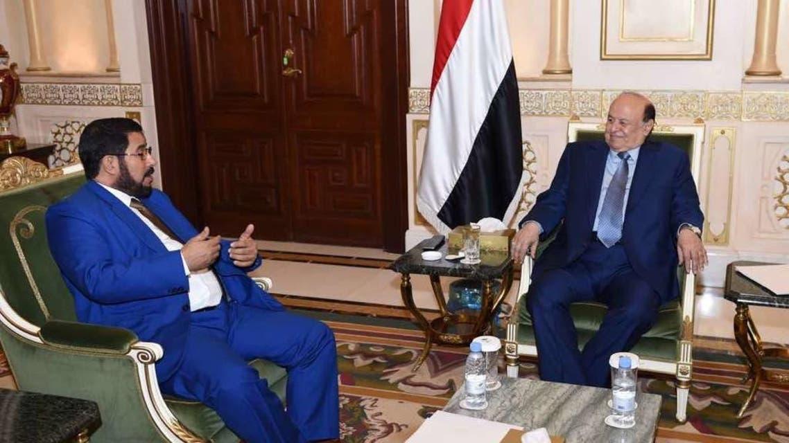 یمنی  صدر عبد ربہ منصور ہادی  اور  گورنر صعدہ  طرشان الوائلی