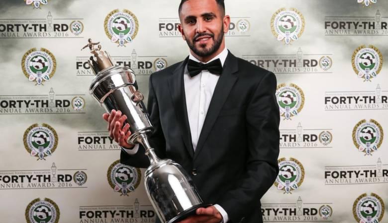 رياض محرز أفضل لاعب بالدوري الانجليزي لسنة 2016