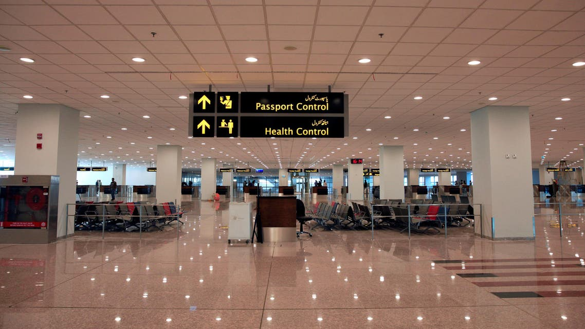 A view of the health and passport control area during a media tour of the newly built Islamabad International Airport, ahead of its official opening on April 18, 2018. (Reuters)