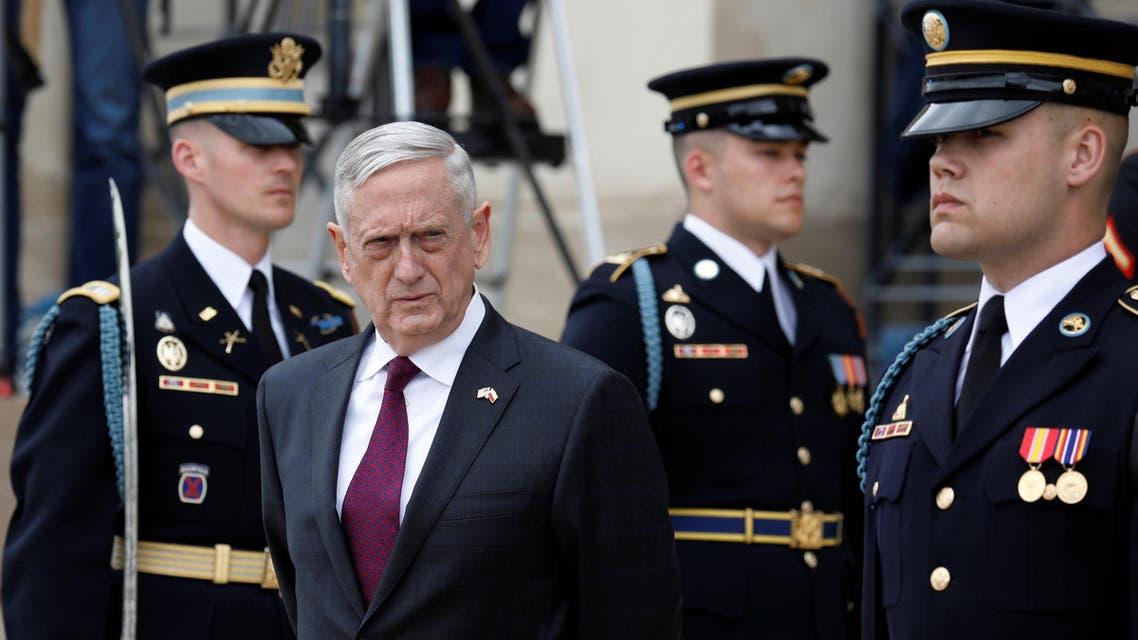 Defense Secretary Mattis waits to welcome Polish Defense Minister Mariusz Blaszczak at the Pentagon in Arlington, Virginia, on April 27, 2018. (Reuters)