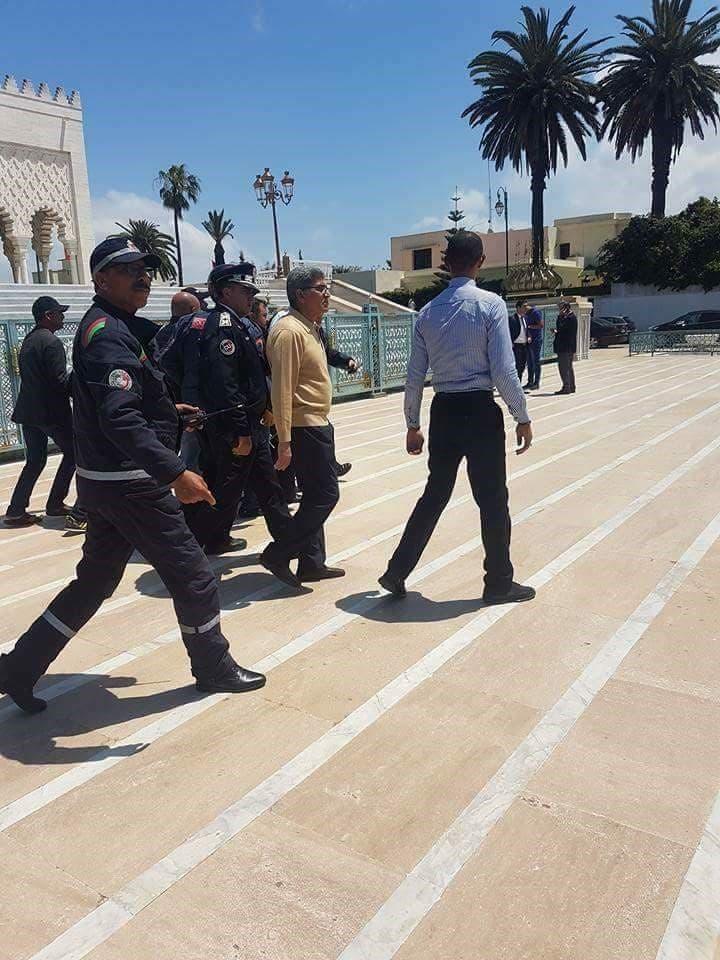 الشرطة المغربية في موقع المسجد