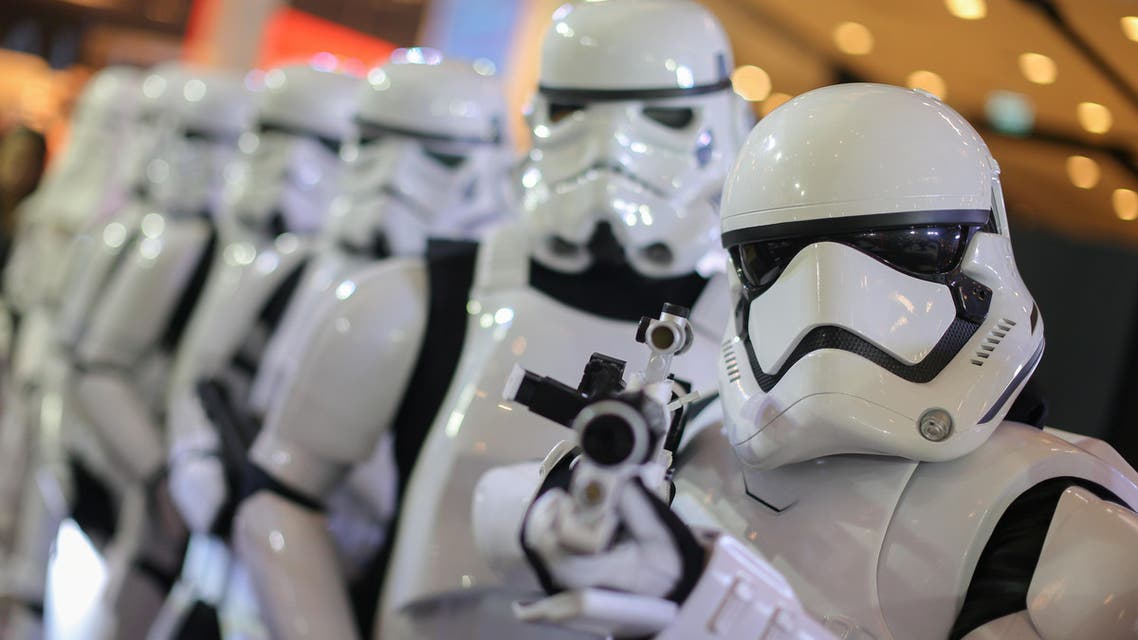 """People dressed as characters from Star Wars take part in an event held for the release of the film """"Star Wars: The Last Jedi"""" in Bangkok, Thailand, December 13, 2017. REUTERS/Athit Perawongmetha"""