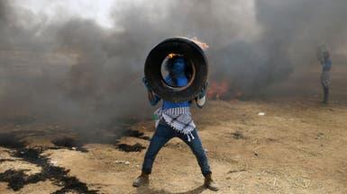 غزة.. احتجاجات وإطارات مشتعلة وجيش إسرائيل يرد بالنار