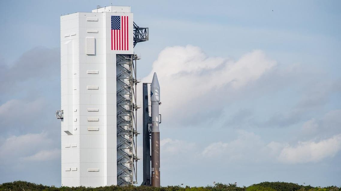 The United Launch Alliance Atlas V rocket with Orbital ATK's Cygnus spacecraft onboard is seen shortly after Launch Complex 41 Vertical Integration Facility. (File photo: AFP)