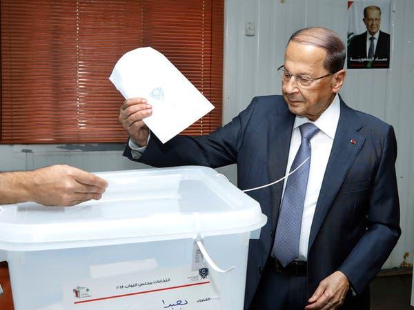 شاهد ميشال عون يدلي بصوته الانتخابي