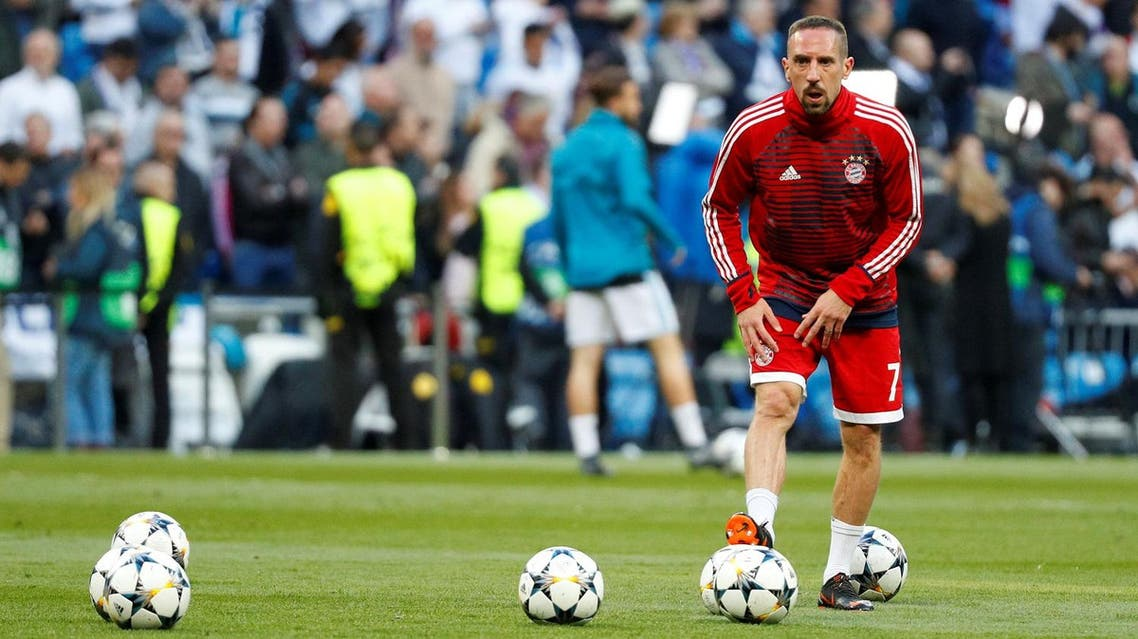 Bayern Munich's Franck Ribery during the warm up. (Reuters)