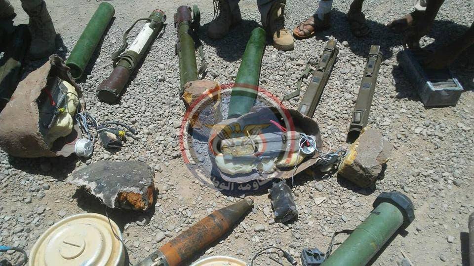 أسلحة حوثية اغتنمتها قوات الشرعية اليمنية في الساحل الغربي