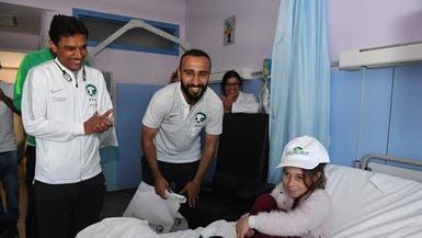 بعثة الأخضر تزور مستشفى أطفال في ماربيا