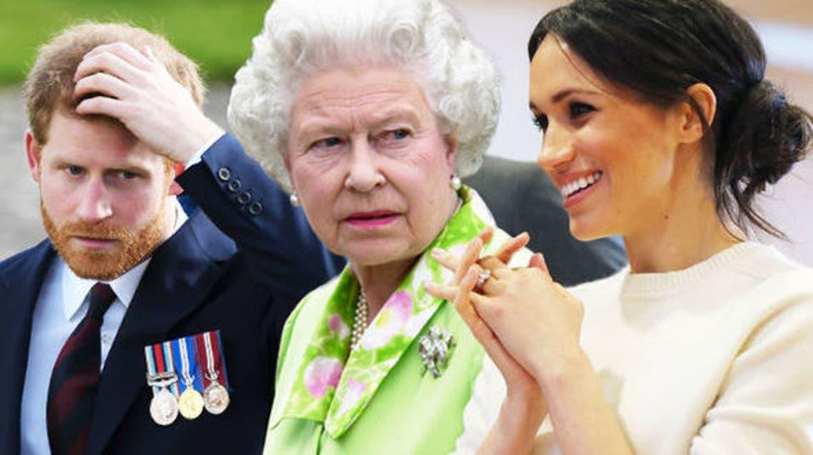 ميغان ماركل - الملكة إليزابيث - الأمير هاري