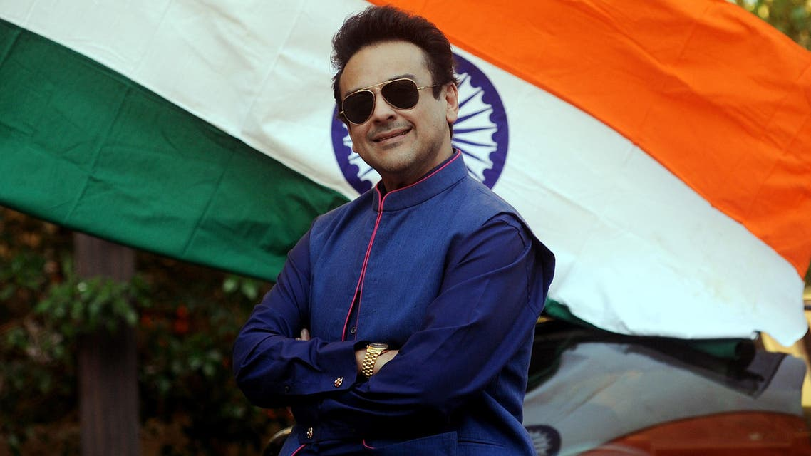 Adnan Sami celebrates being granted Indian citizenship at his residence in Mumbai on January 3, 2016. (AFP)
