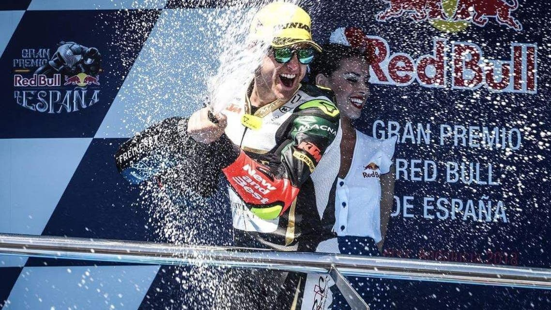Spanish racer Marcos Ramirez bought glory to the UAE on Sunday completing the podium in the Moto3 Gran Premio de España. (Supplied)