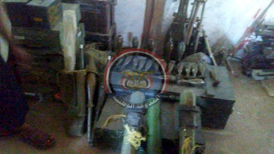 مخازن أسلحة حوثية عثرت عليها القوات اليمنية في جبهة الساحل الغربي