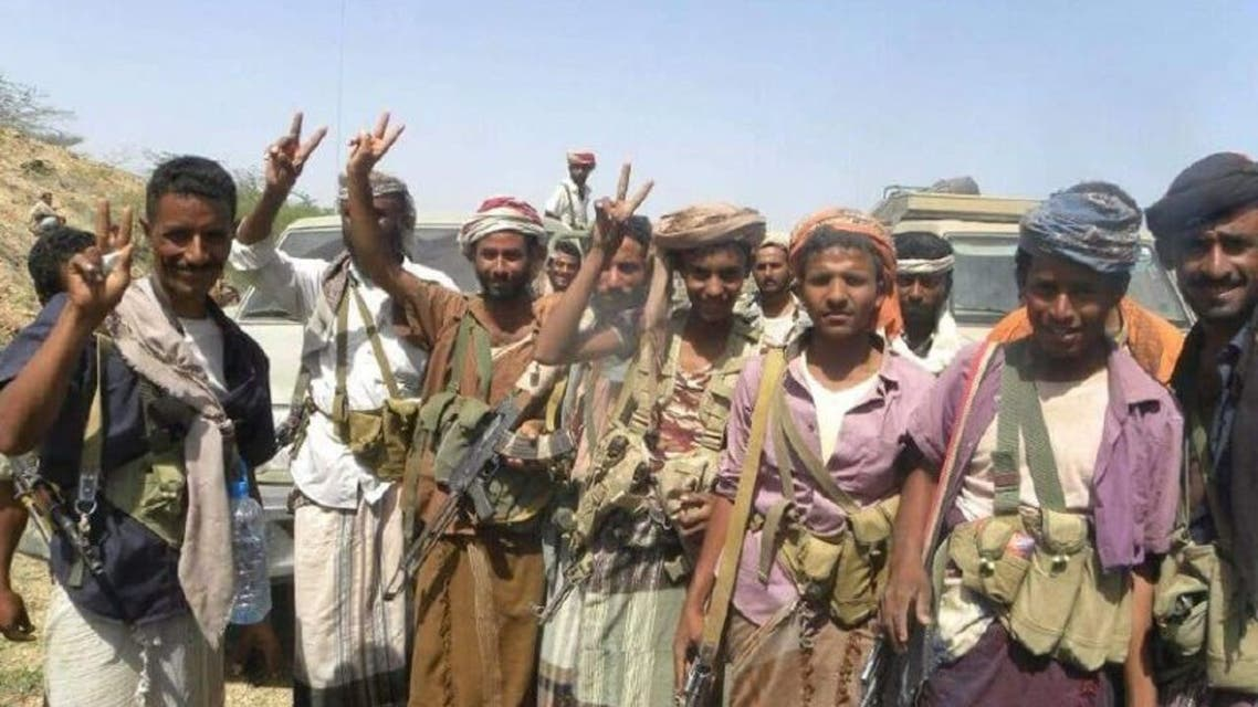 قوات الشرعية اليمنية في البرح