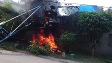 لاہور: تربیتی طیارہ رہائشی علاقے کے قریب گر کر تباہ