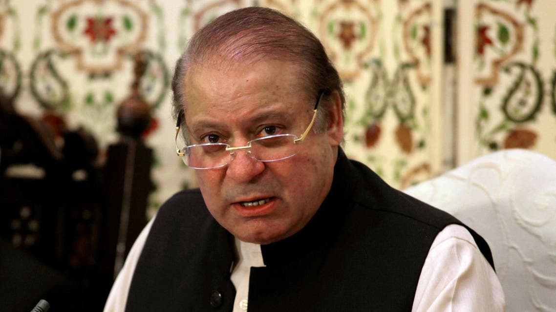 Pakistan's former prime minister Nawaz Sharif speaks during a news conference in Islamabad on September 26, 2017. (Reuters)