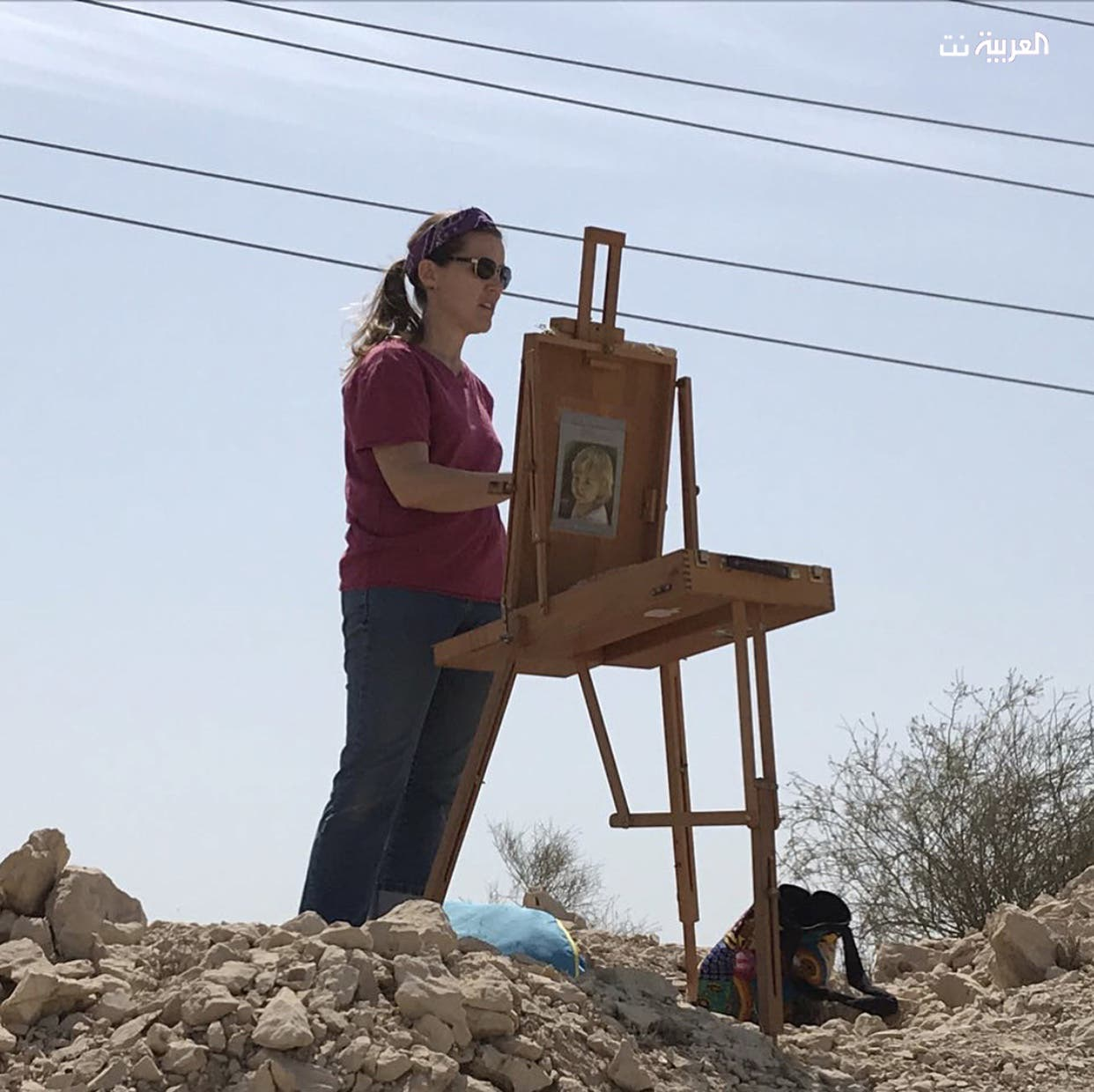 American artist give voice to Saudi deserts in her paintings