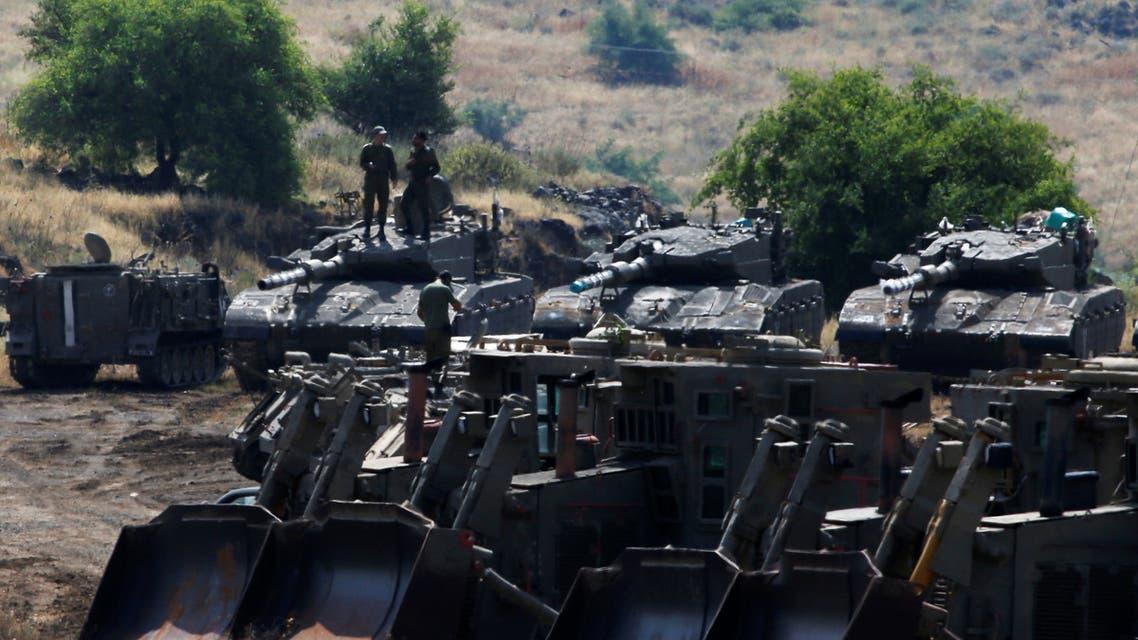 آليات إسرائيلية في الجولان المحتل