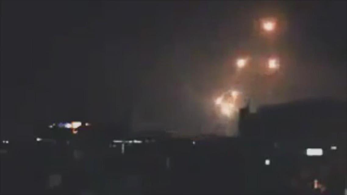 THUMBNAIL_ صواريخ اسرائيلية على سوريا