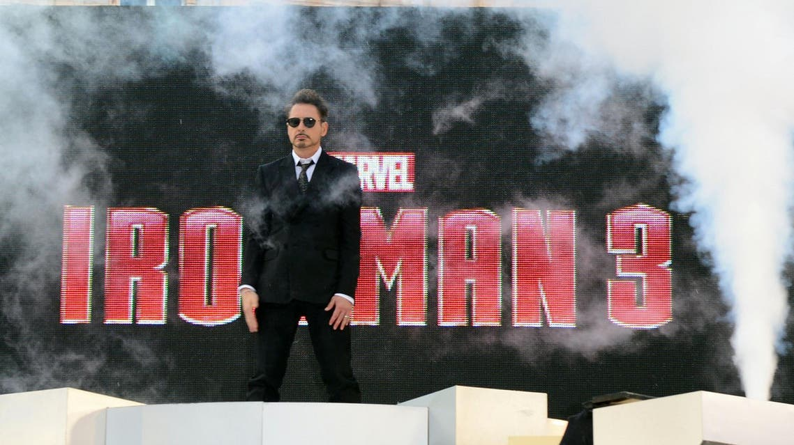 Robert Downey Jnr. at the UK premiere of Iron Man 3 at the Odeon Leicester Square in London on April 18, 2013. (AP)