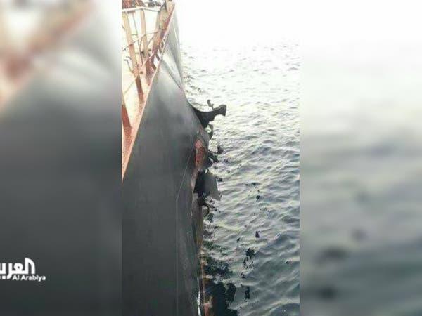 تفتيش سفينة تركية تعرضت لانفجار في طريقها للحديدة