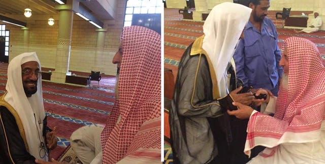 صورة تجمع المؤذن عبدالرحمن مع مفتي المملكة