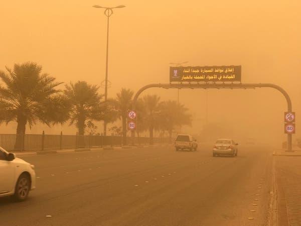 """عاصفه """"الدبور"""" الترابية تضرب السعودية.. والأرصاد تحذر"""