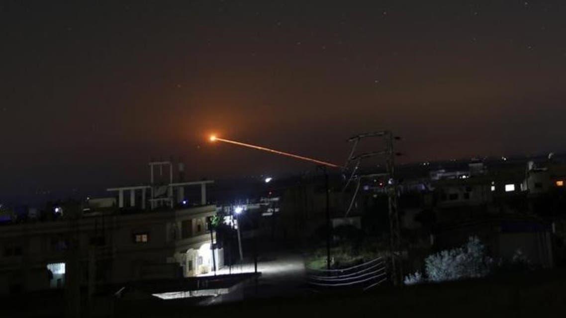 نيران صاروخ فوق درعا بسوريا الخميس