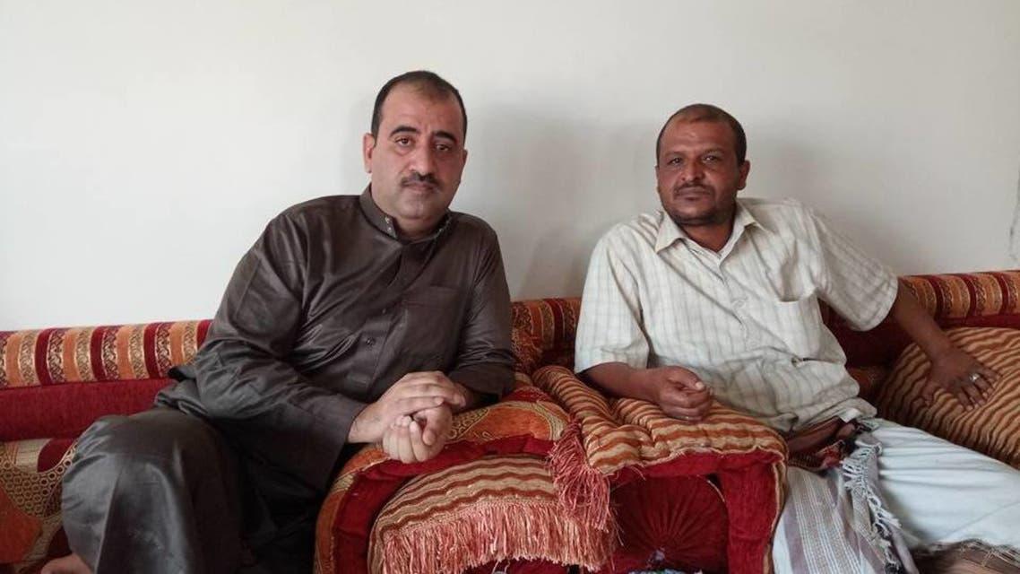 محافظ البيضاء والعقيد معرجي بعد وصوله الى مارب وانشقاقه عن الحوثيين