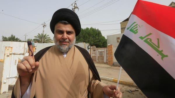 مقتدى الصدر بعد الإدلاء بصوته في الانتخابات العراقية